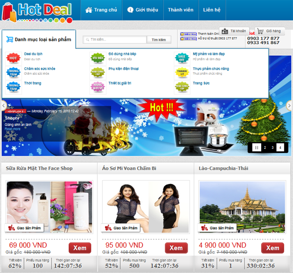 thiet ke website deal